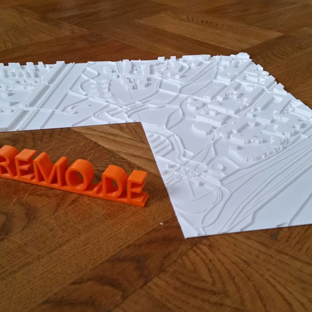 3dprinting touchmap for present with ultimaker from tripremo pla formfuturahellip